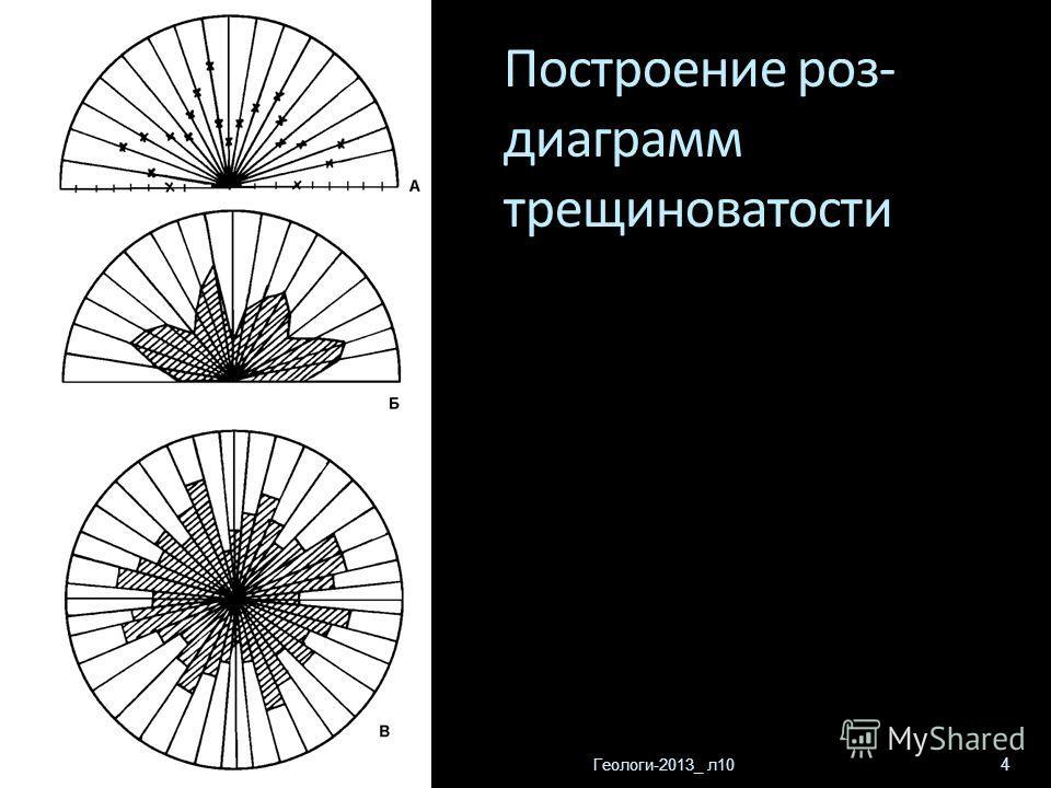 Геологи-2013_ л10 4 Построение роз- диаграмм трещиноватости
