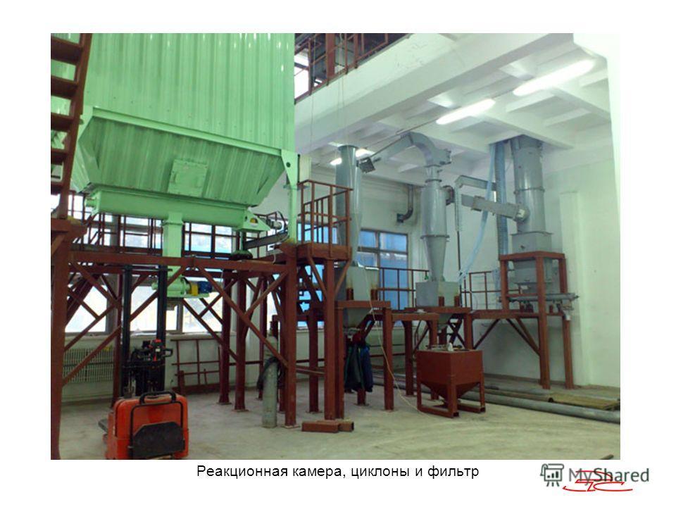 Реакционная камера, циклоны и фильтр