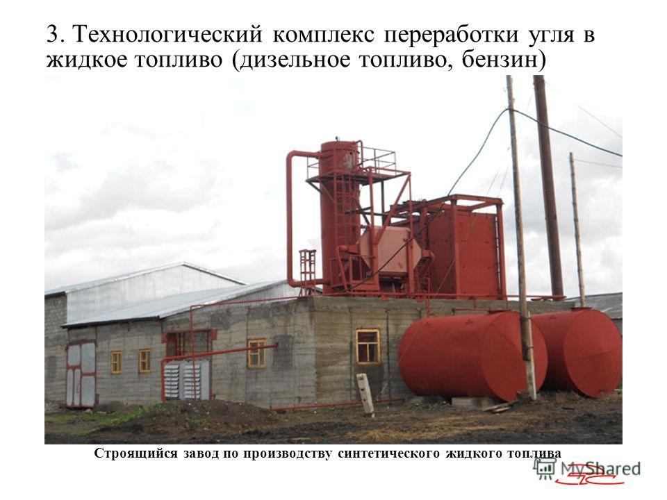 Строящийся завод по производству синтетического жидкого топлива 3. Технологический комплекс переработки угля в жидкое топливо (дизельное топливо, бензин)