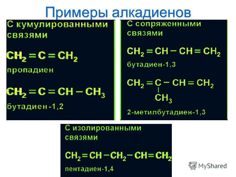 Примеры алкадиенов