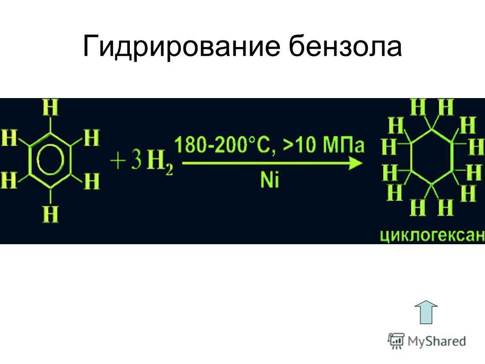 Гидрирование бензола