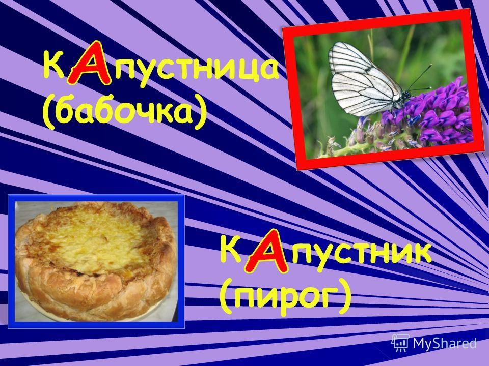 К пустница (бабочка) К пустник (пирог)