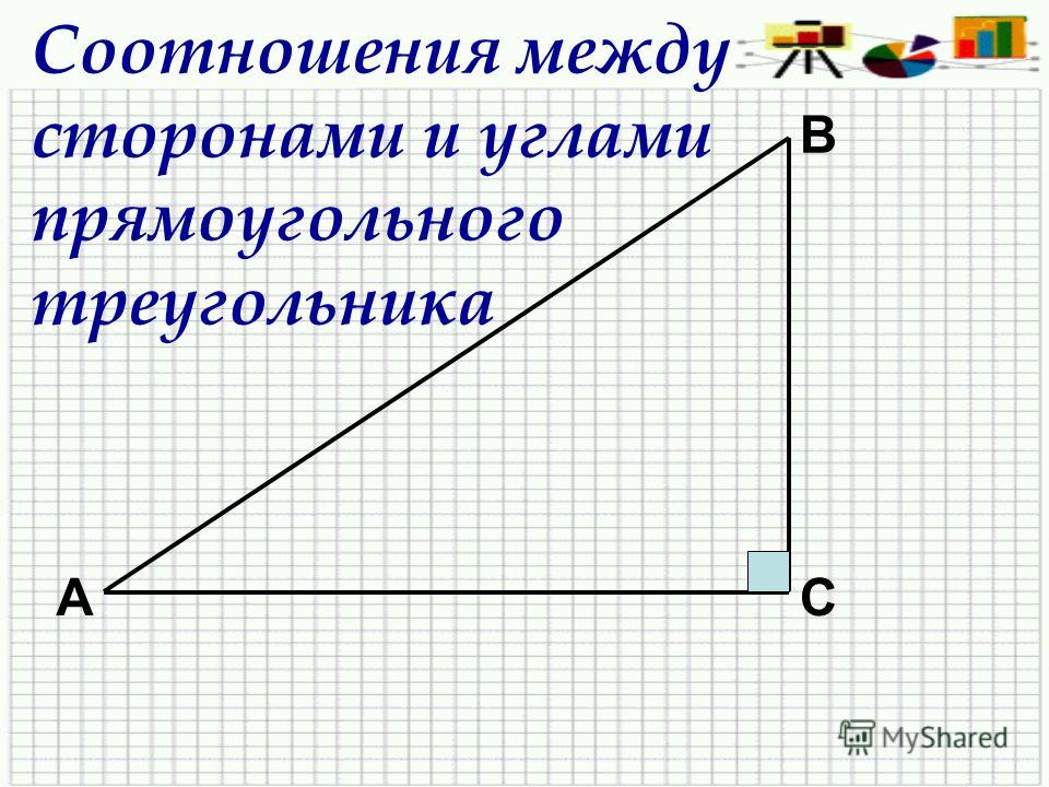 Соотношения между сторонами и углами прямоугольного треугольника А В С