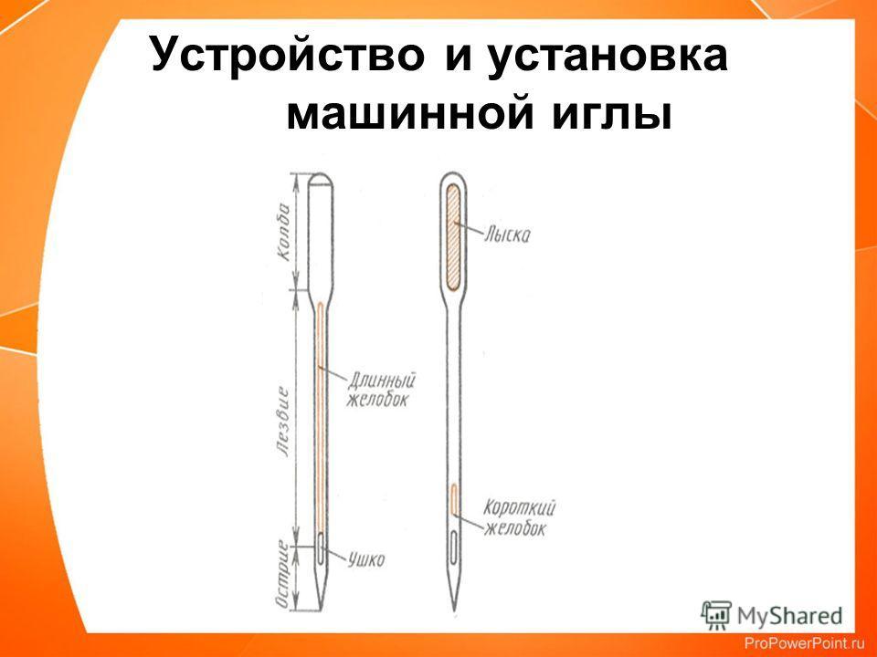 Устройство и установка машинной иглы