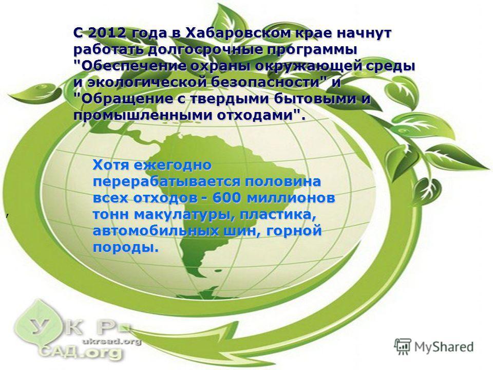 С 2012 года в Хабаровском крае начнут работать долгосрочные программы