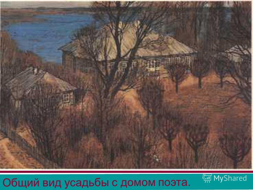 Общий вид усадьбы с домом поэта.
