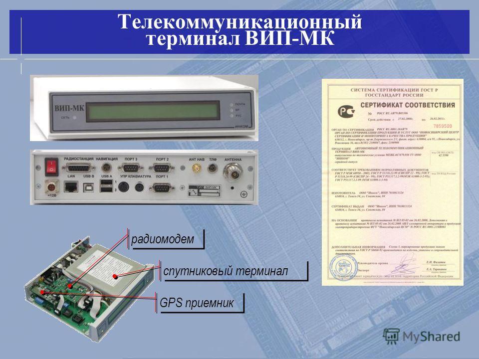 Телекоммуникационный терминал ВИП-МК спутниковый терминал GPS приемник радиомодем
