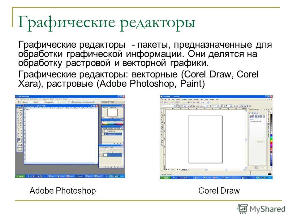 Графические редакторы графические