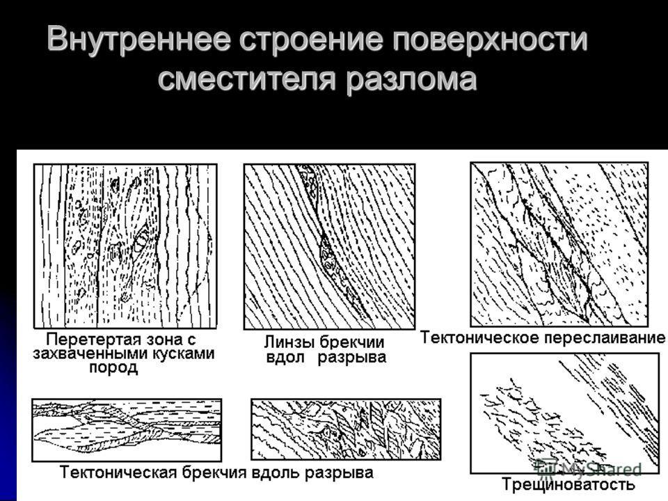геологи2012-л.9Геофизики-2013- л633 Внутреннее строение поверхности сместителя разлома