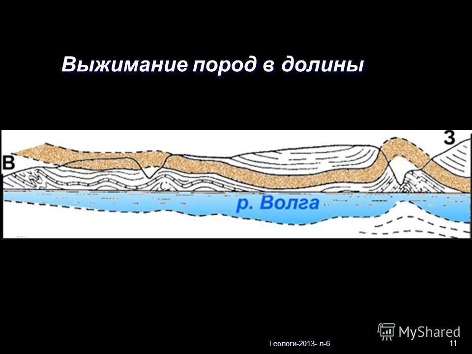 Геологи-2013- л-6 11 Выжимание пород в долины