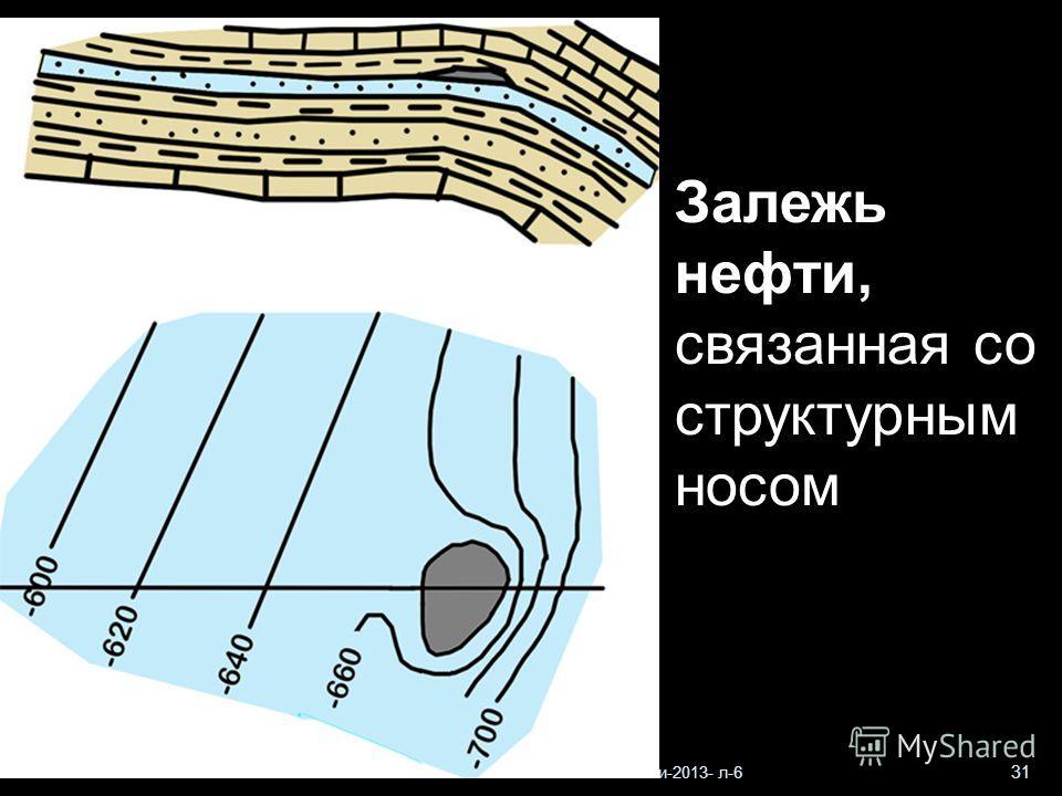 Геологи-2013- л-6 31 Залежь нефти, связанная со структурным носом