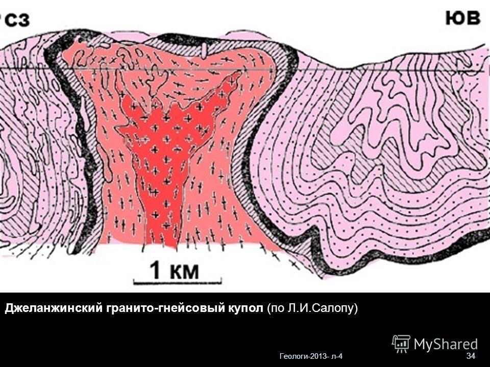 Геологи-2013- л-4 34 Джеланжинский гранито-гнейсовый купол (по Л.И.Салопу)