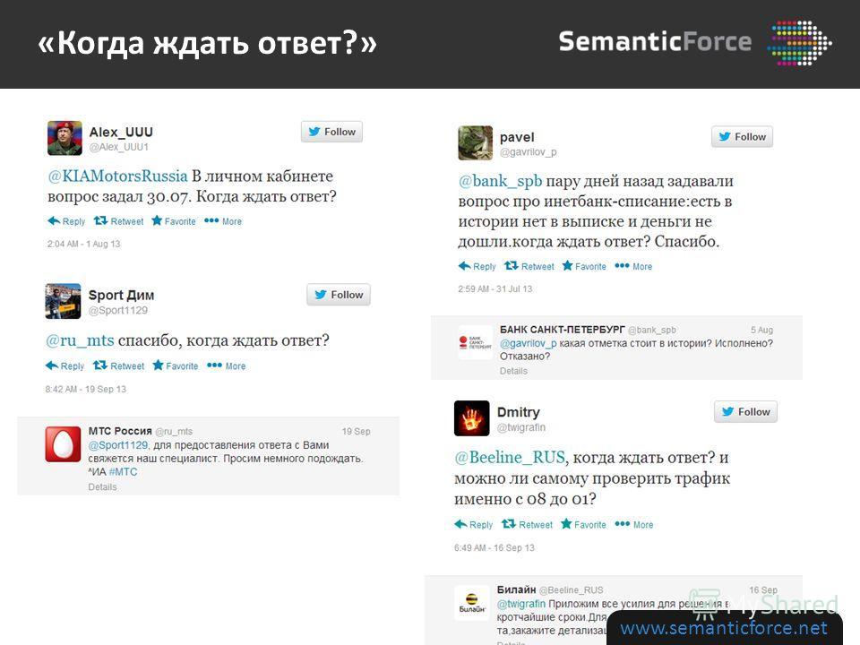 www.semanticforce.net «Когда ждать ответ?»