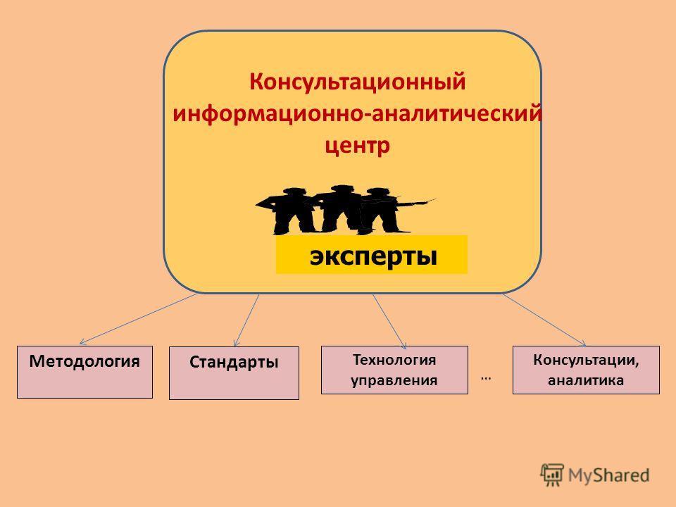 Методология Стандарты Технология управления Консультации, аналитика Консультационный информационно-аналитический центр эксперты …