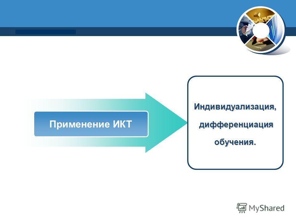 www.thmemgallery.com Company Logo Применение ИКТ Индивидуализация, дифференциация дифференциацияобучения.