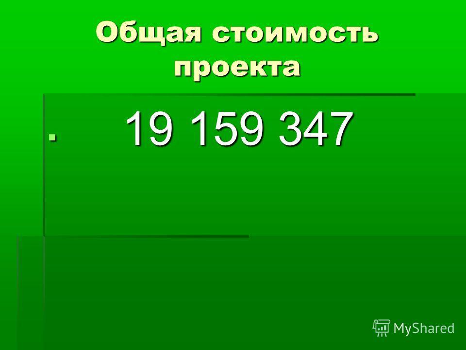Общая стоимость проекта 19 159 347 19 159 347