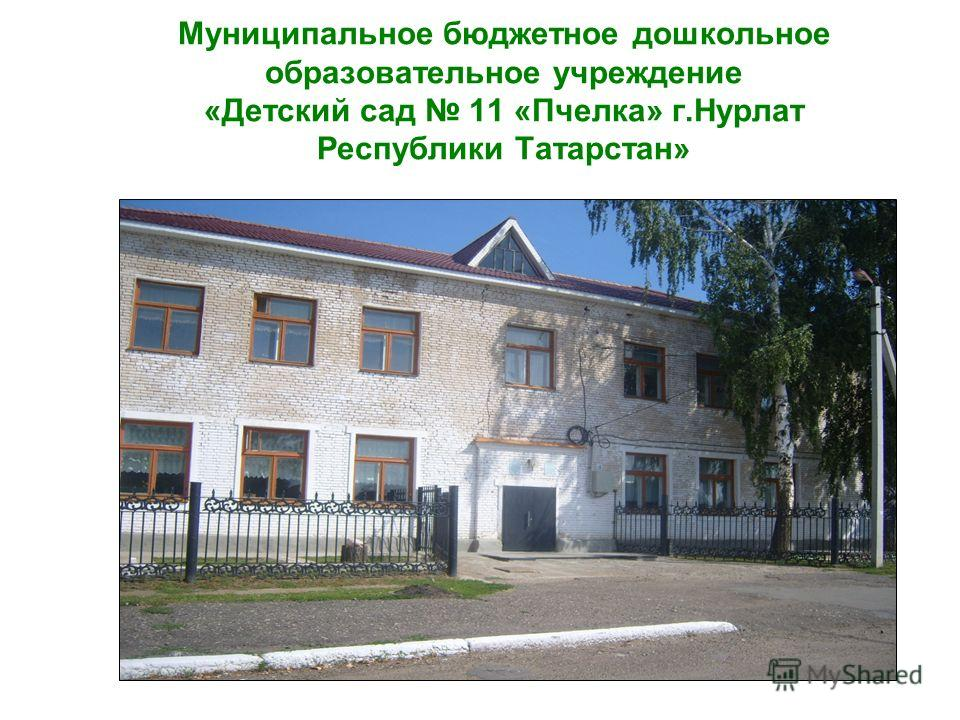 Муниципальное бюджетное дошкольное образовательное учреждение «Детский сад 11 «Пчелка» г.Нурлат Республики Татарстан»