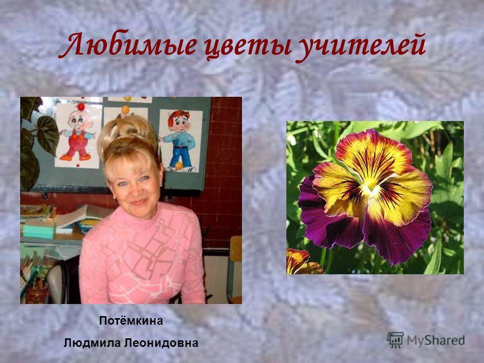 Любимые цветы учителей Потёмкина Людмила Леонидовна