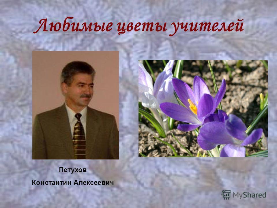 Любимые цветы учителей Петухов Константин Алексеевич