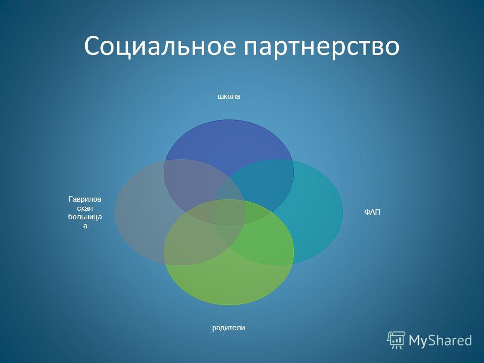 Социальное партнерство школа ФАП родители Гавриловская больницаа