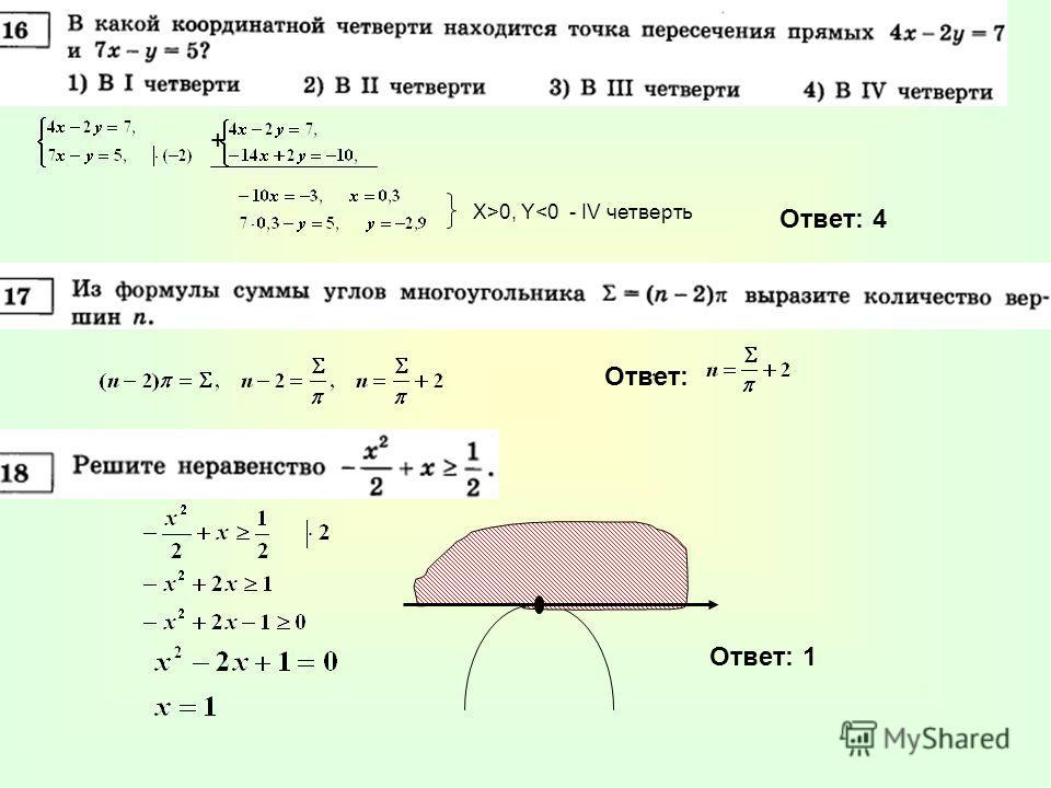 + Х>0, Y