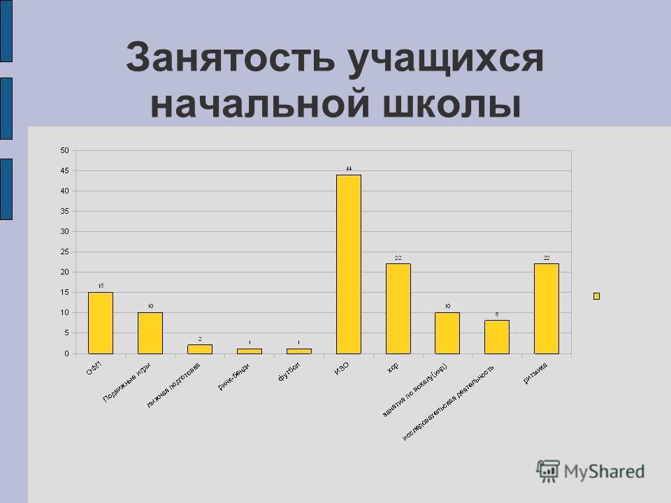 Занятость учащихся начальной школы