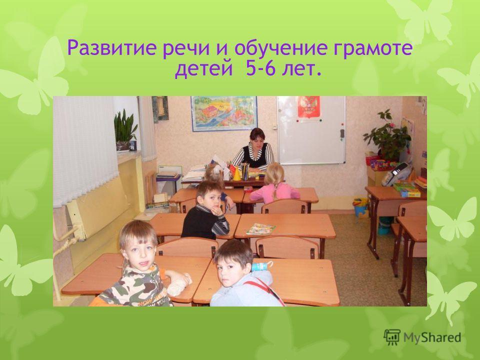 Развитие речи и обучение грамоте детей 5-6 лет.