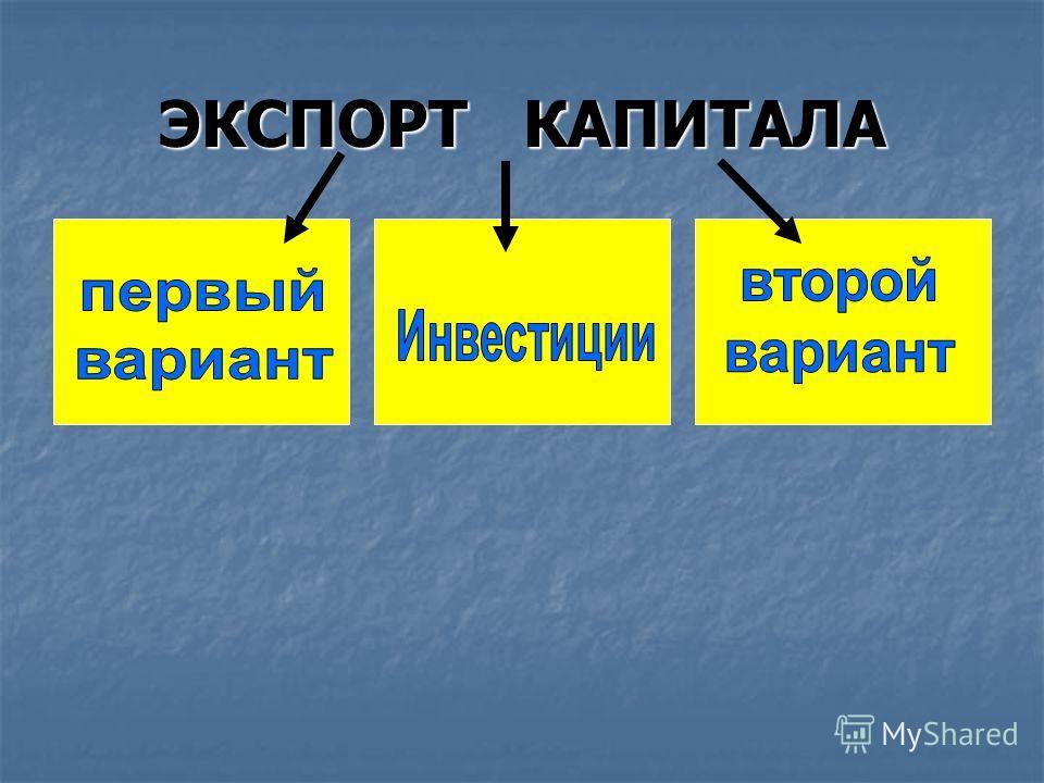 ЭКСПОРТ КАПИТАЛА