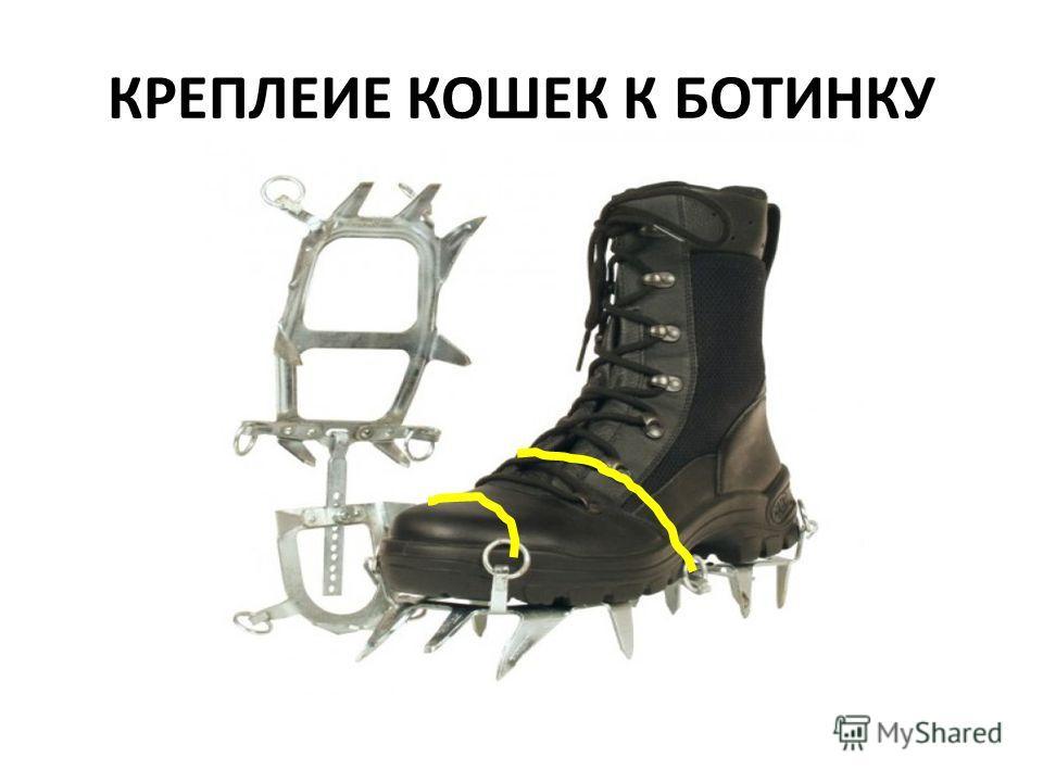 КРЕПЛЕИЕ КОШЕК К БОТИНКУ