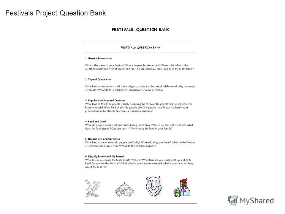 Festivals Project Question Bank