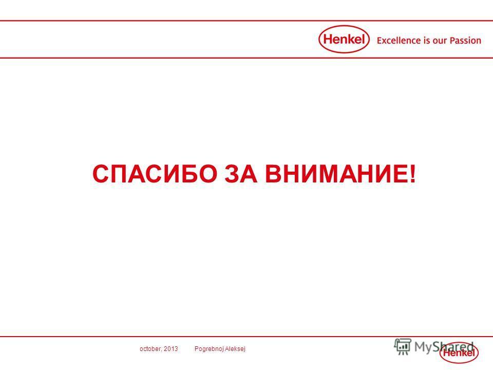 october, 2013 Pogrebnoj Aleksej СПАСИБО ЗА ВНИМАНИЕ!