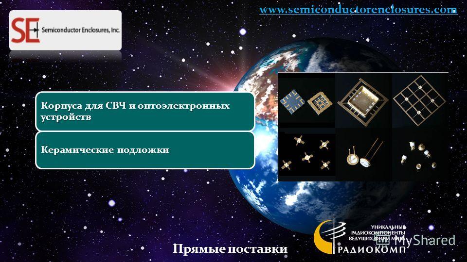 Корпуса для СВЧ и оптоэлектронных устройств Керамические подложки www.semiconductorenclosures.com Прямые поставки