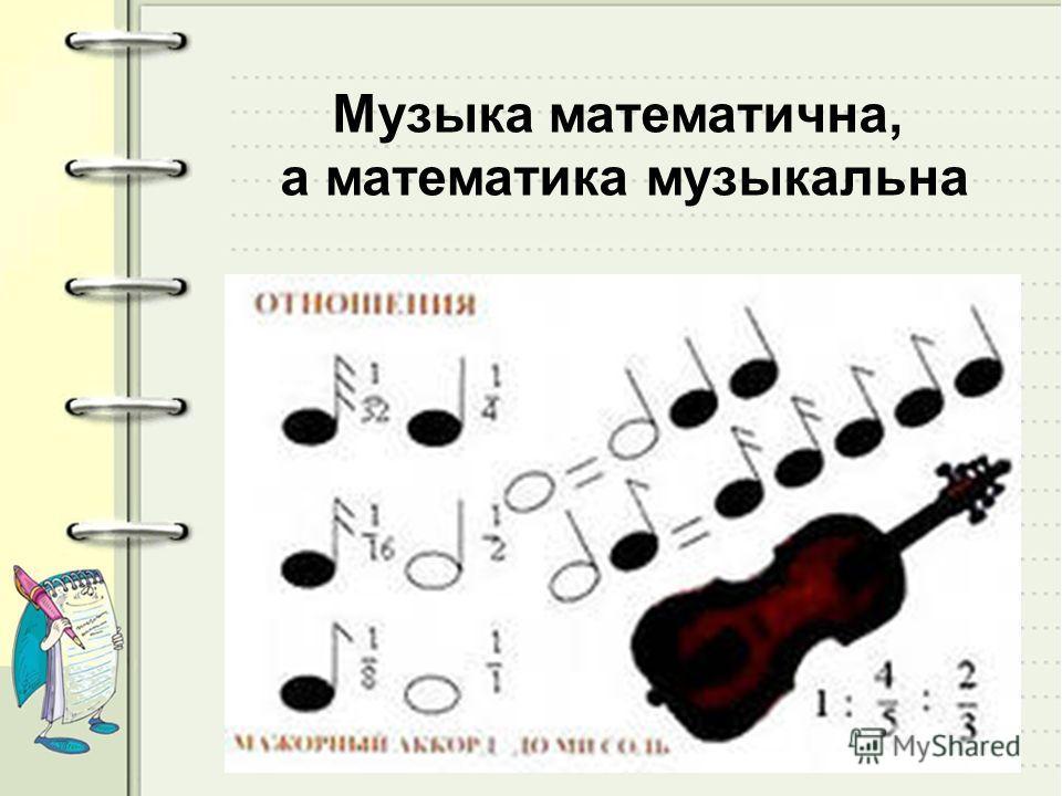Музыка математична, а математика музыкальна