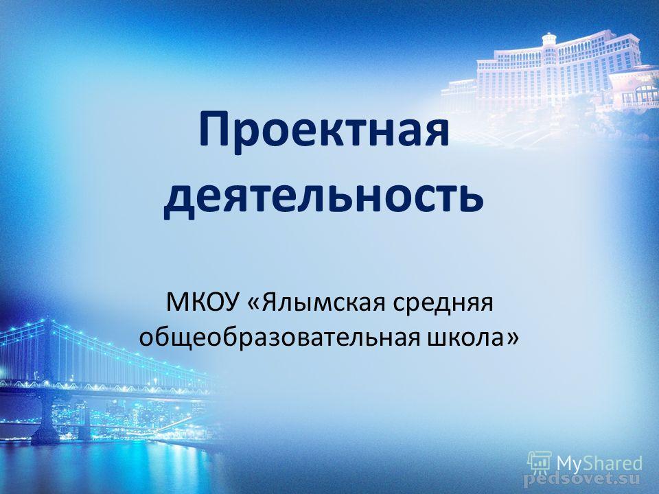 Проектная деятельность МКОУ «Ялымская средняя общеобразовательная школа»