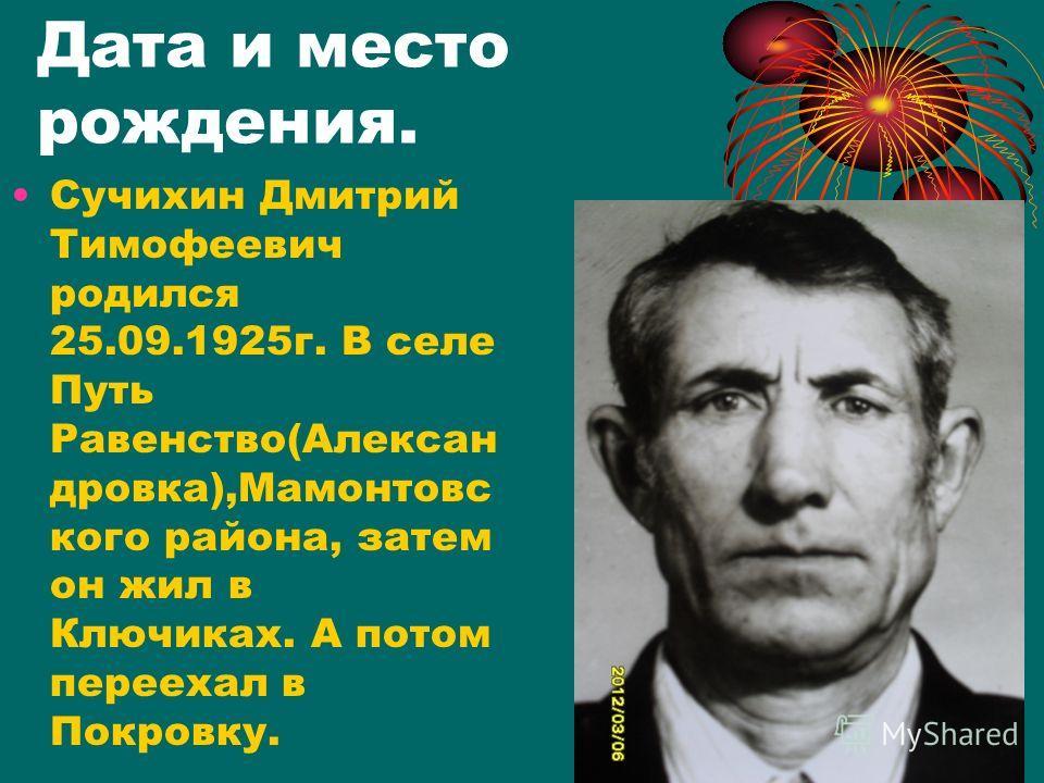 Сучихин Дмитрий Тимофеевич.