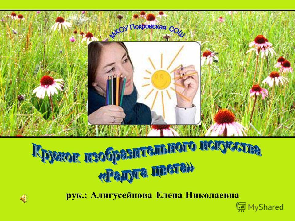 рук.: Алигусейнова Елена Николаевна