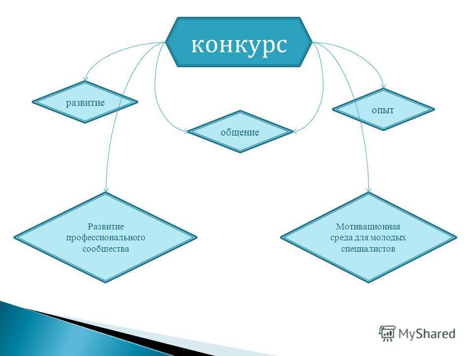 конкурс Развитие профессионального сообщества Мотивационная среда для молодых специалистов опыт общение развитие