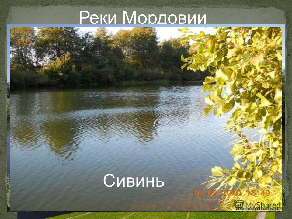 Реки Мордовии Мокша Сура Алатырь Исса Вад Сивинь