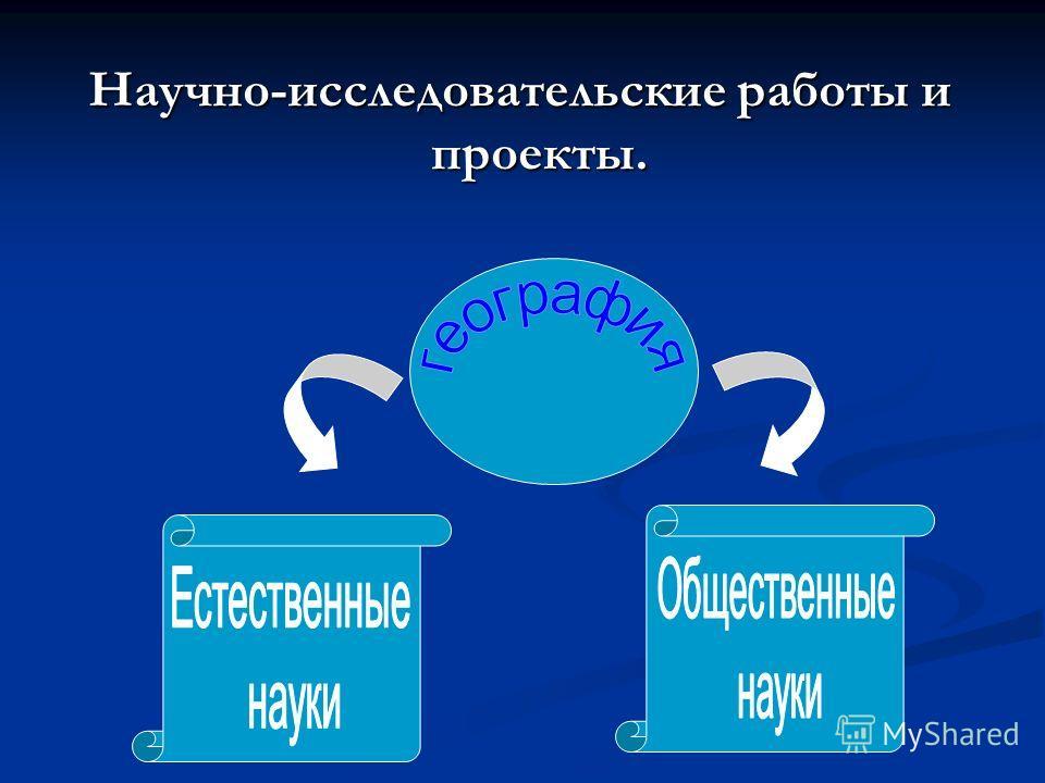 Научно-исследовательские работы и проекты.