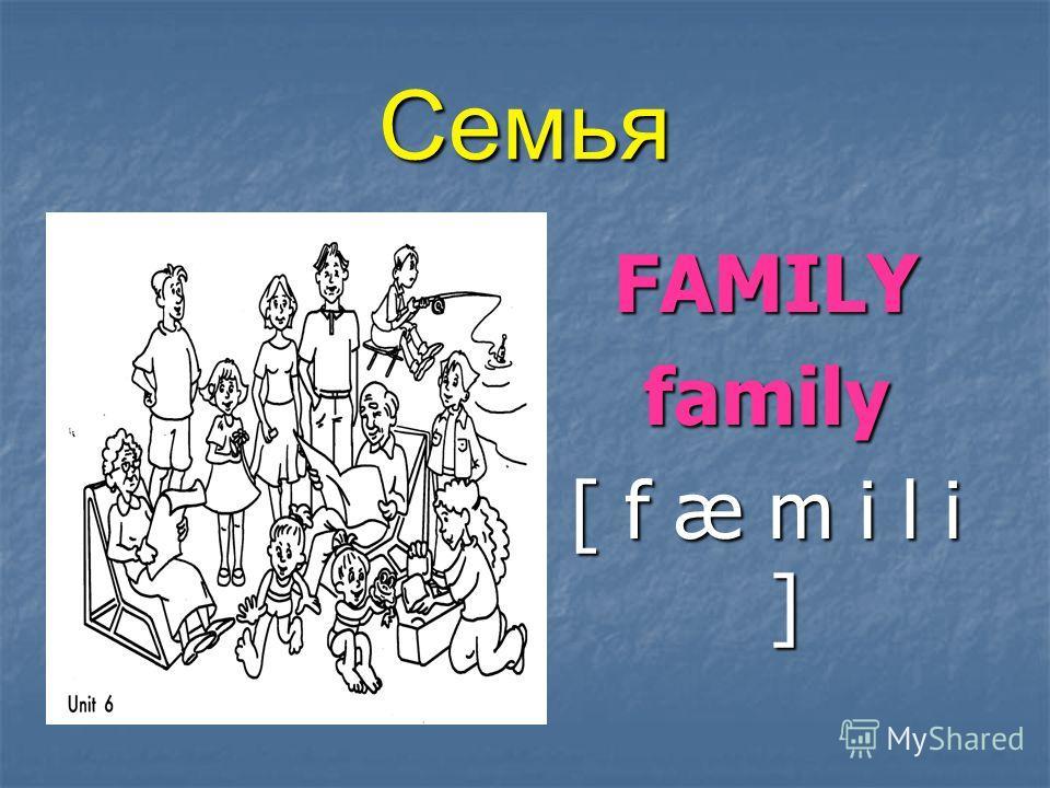 Семья FAMILYfamily [ f æ m i l i ]