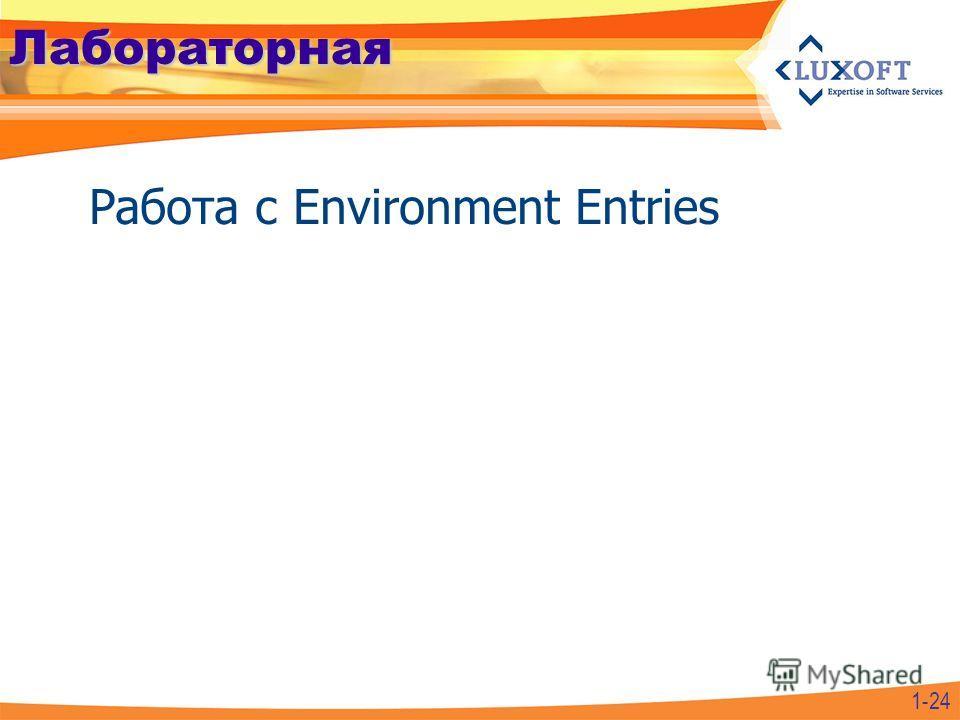 Лабораторная Работа с Environment Entries 1-24