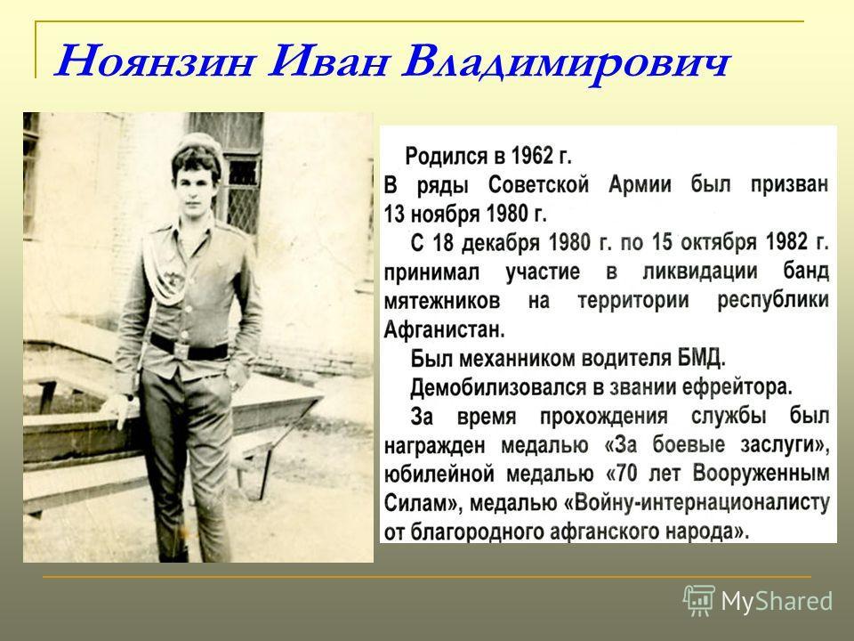 Ноянзин Иван Владимирович