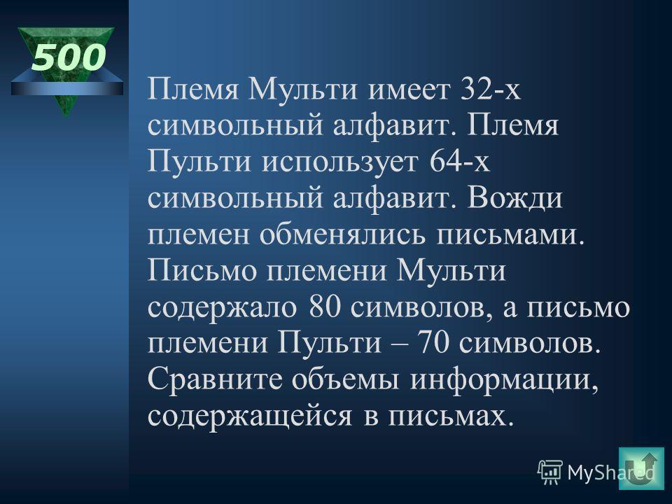 400 Во сколько раз увеличится информационный объем страницы текста (текст не содержит управляющих символов форматирования) при его преобразовании из кодировки MS- DOS (таблица кодировки содержит 2 8 =256 символов) в кодировку Unicode (таблица кодиров