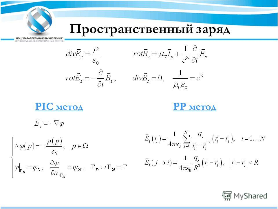 Пространственный заряд PIC методPP метод