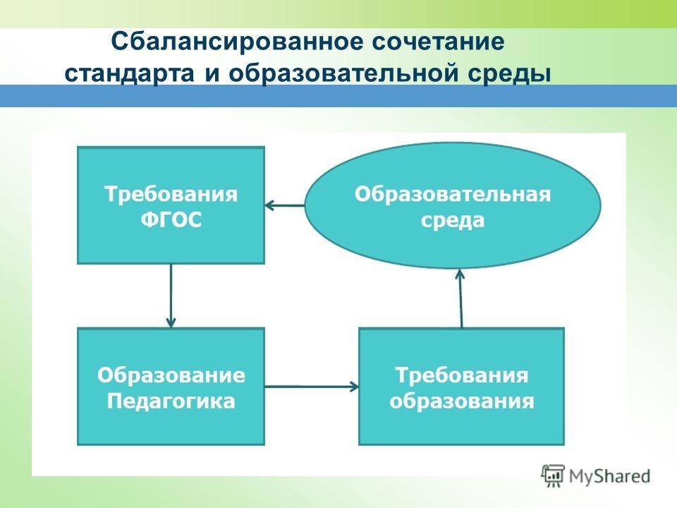 Сбалансированное сочетание стандарта и образовательной среды