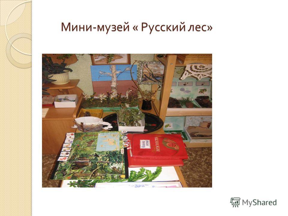 Мини - музей « Русский лес » Мини - музей « Русский лес »