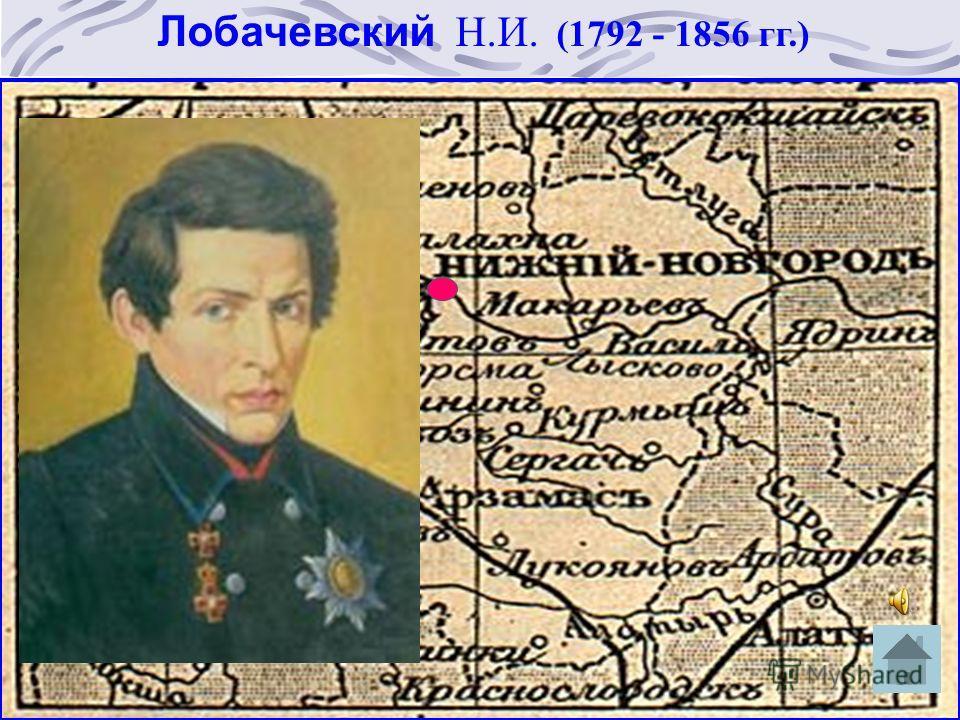 Лобачевский Н.И. (1792 - 1856 гг.)