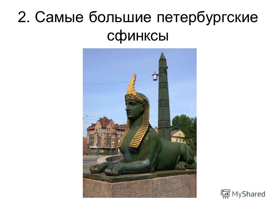 2. Самые большие петербургские сфинксы