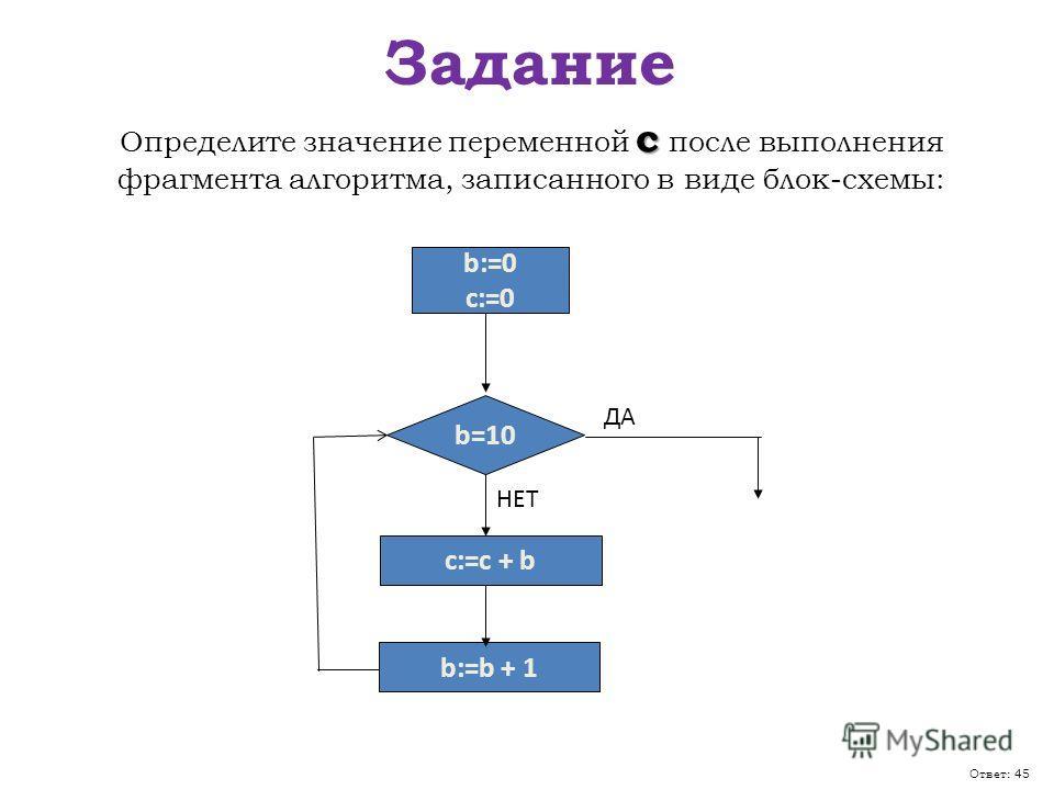в виде блок-схемы: b=10