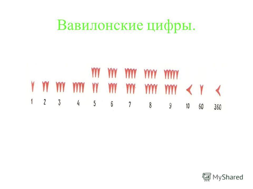 Вавилонские цифры.